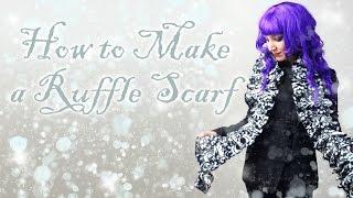 DiY Gift Tutorial - How To Sew A Fleece Ruffle Scarf