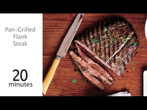 How to Make Pan-Grilled Flank Steak