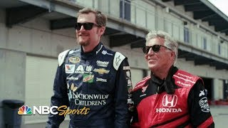 Dale Earnhardt Jr., Mario Andretti ride together | Indy 500 | Motorsports on NBC