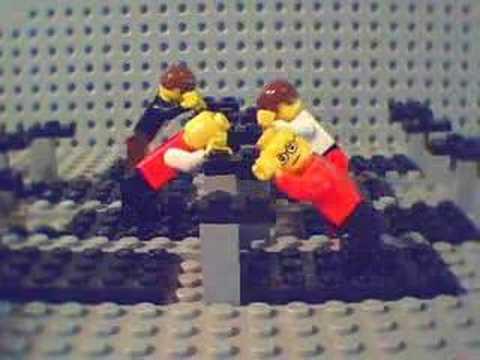 OK Go on Treadmills in lego
