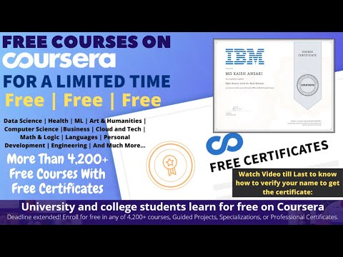 Get Coursera Courses For 100% Free With Online Free Certificates ...