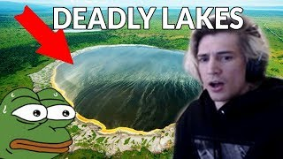 xQc Reacts to Top 10 Most Horrifyingly Mysterious Lakes in the World