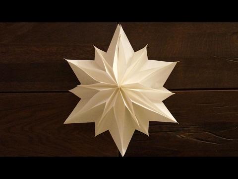 einfache Sterne zu Weihnachten basteln / paper stars tutorial / DIY