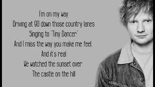 Castle On The Hill   Ed Sheeran (Lyrics)
