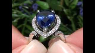 Katie Holmes Top Gem D-Block Tanzanite & Diamond Ring Set In Solid Platinum Must Be Sold