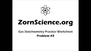 Gas Stoichiometry Worksheet Q3