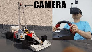 FPV RC car -real car itself- Drive by watching the video of the onboard camera #radihancon