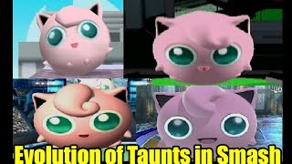 Evolution of Taunts and Graphics Comparison in Super Smash Bros Series (The Original 12 Characters)