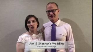 Ann & Shannon's wedding
