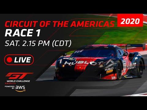2020年 ブランパンGTワールドチャレンジ・アメリカ(COTA)レース1ライブ配信動画