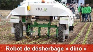 """Robot de désherbage """"dino"""" de naio-technologies présenté à Tech&Bio 2017"""