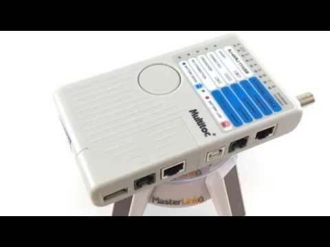 TESTADOR DE CABOS RJ45 USB E BNC MULTIFUNCIONAL MT-200