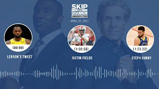 LeBron's tweet, Justin Fields, Steph Curry (4.22.21) | UNDISPUTED Audio Podcast