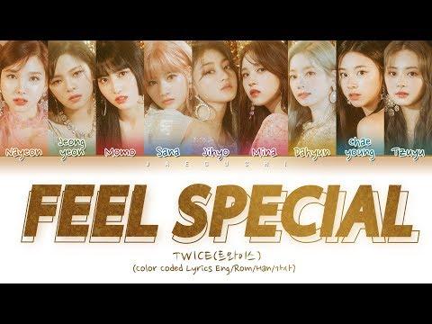 "TWICE(트와이스) ""Feel Special"" (Color Coded Lyrics Eng/Rom/Han/가사)"