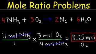 Stoichiometry Mole To Mole Conversions - Molar Ratio Practice Problems