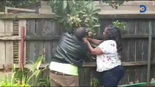 Irresistible Fruits: Mama Ida Odinga caught on camera allegedly plucking neighbour's fruit