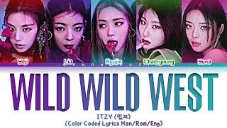 ITZY - 'Wild Wild West' Lyrics (있지 Wild Wild West 가사) [Color Coded Lyrics/Han/Rom/Eng]