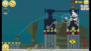 Angry Birds Seasons Power Up Test Site Bomb 3 Stars Walkthrough