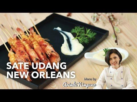 Video Cara Memasak Sate Udang New Orleans Tanpa Ribet