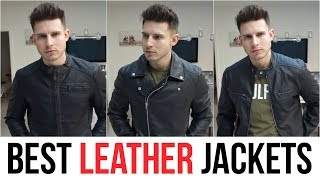 BEST FITTING LEATHER JACKETS FOR MEN 2019   LEATHER JACKET HAUL ASOS