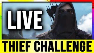 Skyrim Live - Thief Challenge Build! (Lets Play Walkthrough)!