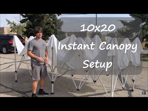 Instant Canopy 10X20 Setup - One person (Impact Canopy Brand)
