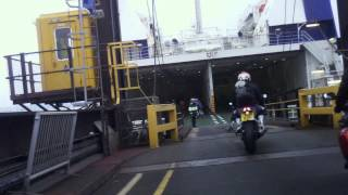 preview picture of video 'Motorcycles boarding the Poole-Cherbourg Ferry'