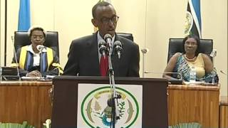 preview picture of video 'President Kagame attends East African Legislative Assembly- Kigali, 16 April 2013'