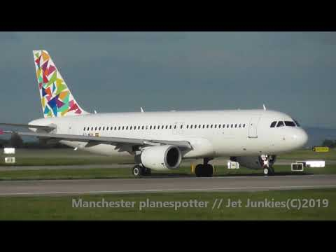 (HD) Monday Eveing Plane Spotting On Runway 23L/23R At Manchester Airport On The 16/09/2019