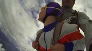 Прыжок с парашютом. Высота 2500 метров. Тандем.
