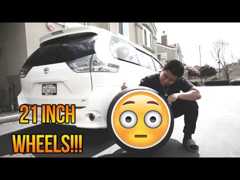 THE SIENNA GETS NEW 21 INCH WHEELS!!! (HYPED AF)