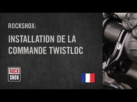 ROCKSHOX: Installation de la commande TwistLoc