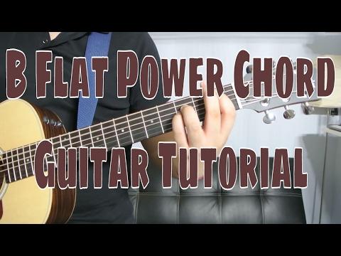 How to play a B Flat Power Chord (Chord Guitar Tutorial!!)