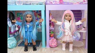 Setting Up American Girl Doll Disney Descendants Audrey And Uma Loft Beds!