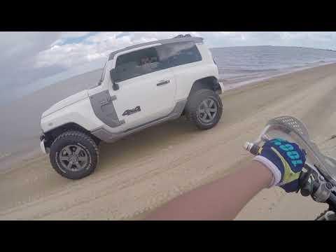 Trilha de moto em Arambare de volta da duna do pontal