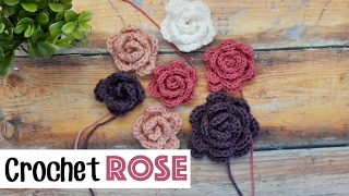 Quick & Easy Crochet Rose | Sewrella