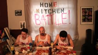 Home Kitchen Battle! Episode 4 Pizza Eating Contest