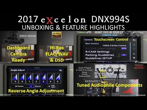KENWOOD eXcelon DNX994S 2017 Flagship Navigation Multimedia Receiver Unboxing & Feature Highlights