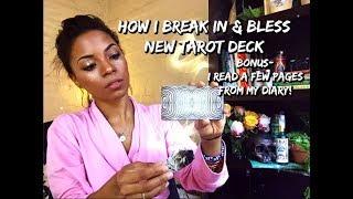 BREAKING IN YOUR NEW TAROT DECK 🔮🔥✨ // BONUS: I READ MY DIARY! 😱🔐📝❤️ || BEHATILIFE