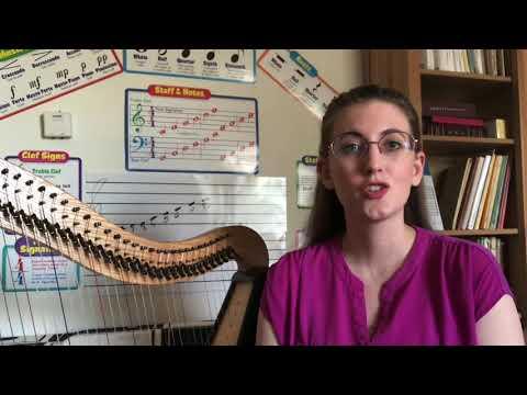 Lesson Intro - voice, piano, and Celtic harp!