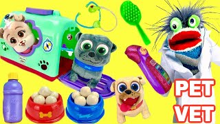 Puppy Dog Pals Bingo, Keia and Rolly Visit Fizzy Pet Vet