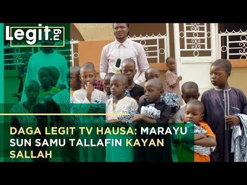 Yunkurin Legit TV: Marayu sun samu tallafin kayan Sallah | Legit TV Hausa