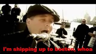 dropkick murphys im shipping up to boston karaoke