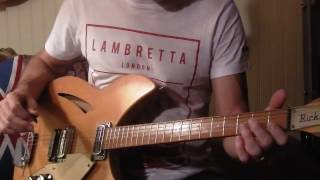 "The Jam: ""In The City"" (intro riff lesson) 1966 Rickenbacker 335"