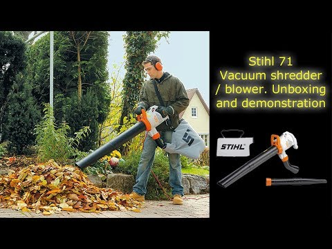 Sthil SHE 71 electric garden blower - vacuum shredder