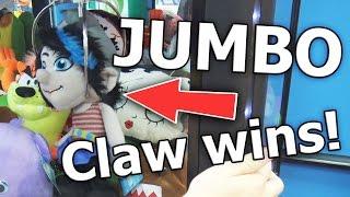 ✓ HUGE JUMBO CLAW MACHINE WINS AT WALMART! - | Arcade Games
