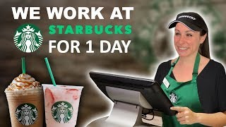 We Work at Starbucks for 1 Day ☕️ Feat. Pink Drink, Secret Menu, and More