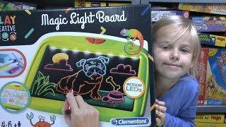 Magic Light Board (Clementoni) - faszinierend zu Malen! faszinierende Geschenkidee!