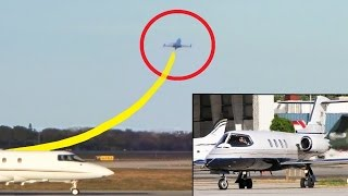 Learjet 25 - HIGH PERFORMANCE Takeoff (with Reactions)