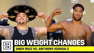 BIG WEIGHT CHANGES | Andy Ruiz (283.7 lbs) & Anthony Joshua (237 lbs) Weigh-In Ahead Of Rematch